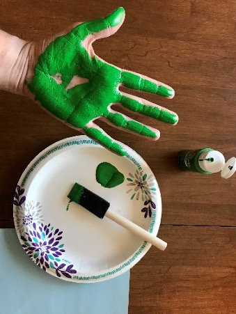 Earth handprint craft
