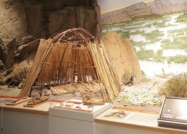 Wickiup Diorama in Oregon-Where Past is Present exhibit