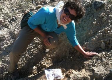 Paleontologist Win McLaughlin conducting field research in Kyrgyzstan