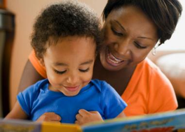 Reading aloud to a preschooler
