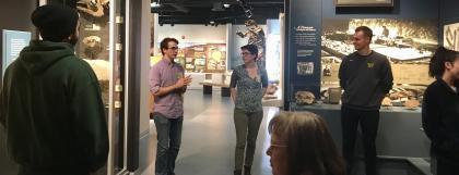 College students in the museum